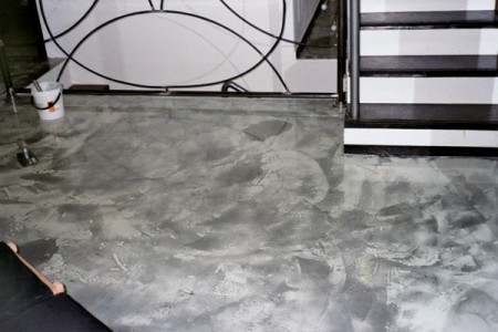 Pavimento Resina e polvere d'Alluminio